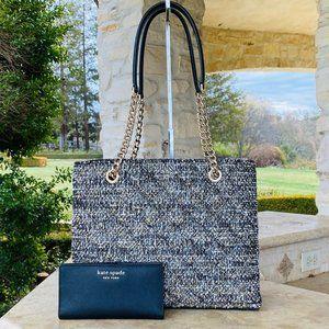 NWT Kate Spade Tweed Natalia bag&wallet